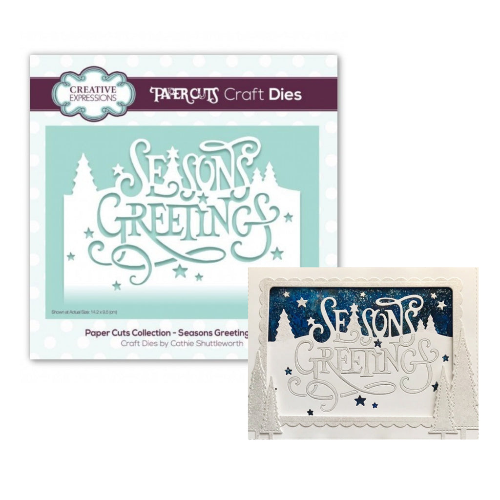 Season's Greetings Edger Metal Die by Creative Expressions CEDPC1085 - Inspiration Station Scrapbook Store & Retreat