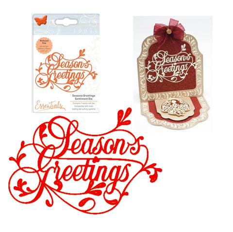 Season's Greetings Sentiment Die by Tonic Studios Dies 2163e - Inspiration Station Scrapbook Store & Retreat