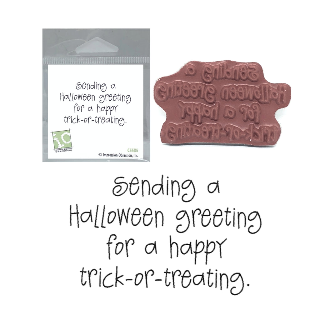 Sending Halloween Greeting Stamp by Impression Obsession C5585 - Inspiration Station Scrapbook Store & Retreat