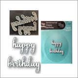 Sentimental Happy Birthday Word Die Cut Set by Memory Box Dies 99926 - Inspiration Station Scrapbook Store & Retreat