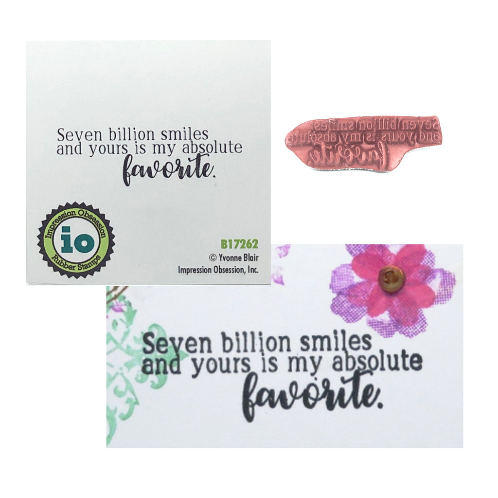 Seven Billion Smiles Stamp by Impression Obsession B17262 - Inspiration Station Scrapbook Store & Retreat