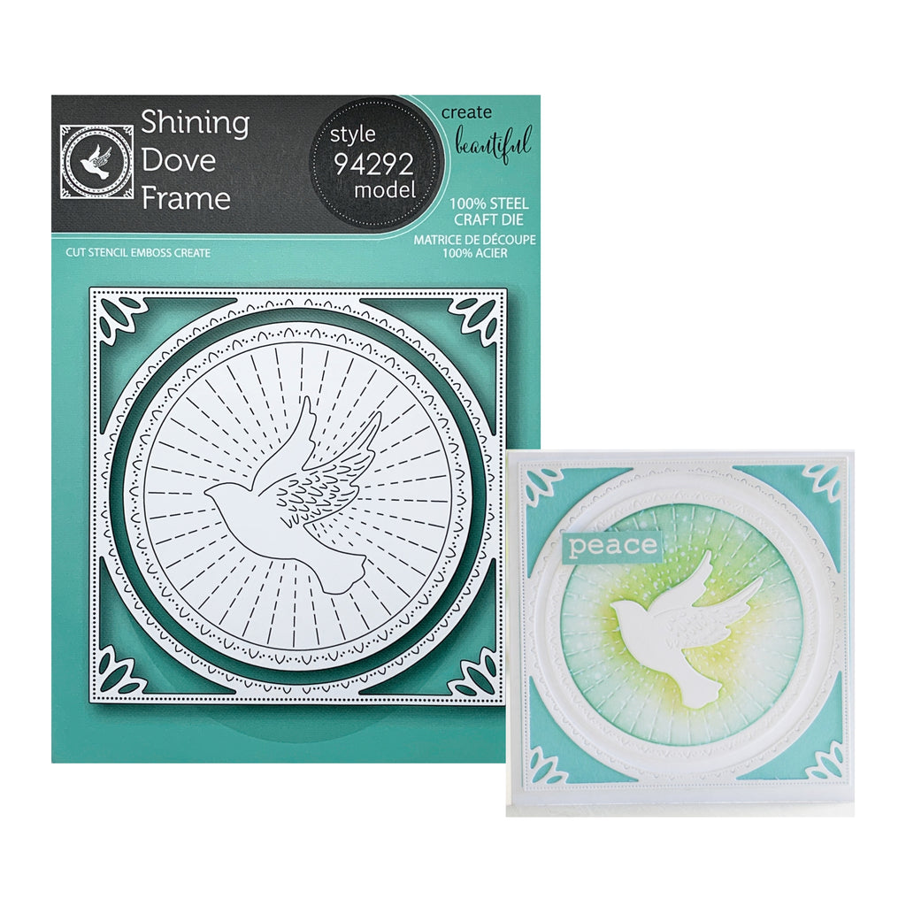 Shining Dove Frame Metal Die Cut Set by Memory Box Dies 94292 - Inspiration Station Scrapbook Store & Retreat