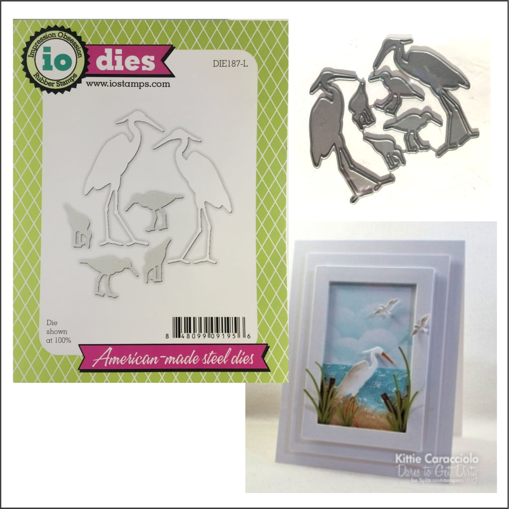 Shore Birds Die Cut Set by Impression Obsession Dies DIE187-L - Inspiration Station Scrapbook Store & Retreat