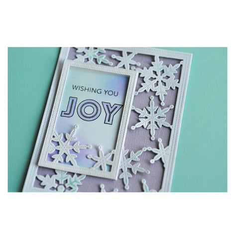 Christmas Simple Pinpoint Snowflake Frame Metal Die Cut Poppystamps Cutting Dies