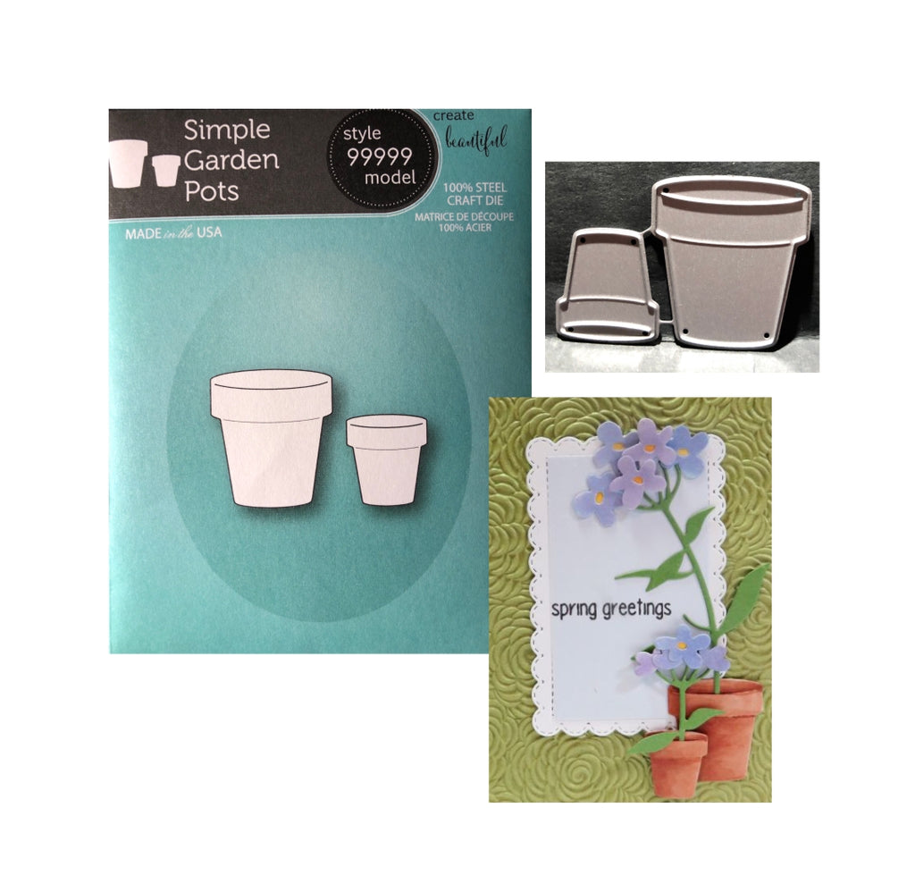 Simple Garden Pots Die Set by Memory Box Dies 99999 - Inspiration Station Scrapbook Store & Retreat