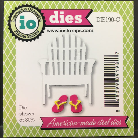 single beach chair die cut by impression obsession dies die190 c rh store ovidscrapbooking com beach chair die cut beach chair san diego