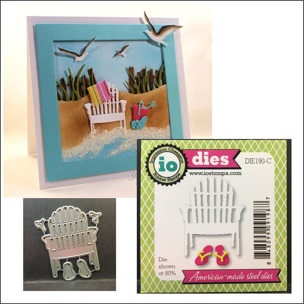 single beach chair die cut by impression obsession dies die190 c rh store ovidscrapbooking com beach chair die cut Beach Umbrella