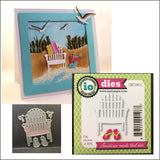 Single Beach Chair Die Cut by Impression Obsession Dies DIE190-C - Inspiration Station Scrapbook Store & Retreat