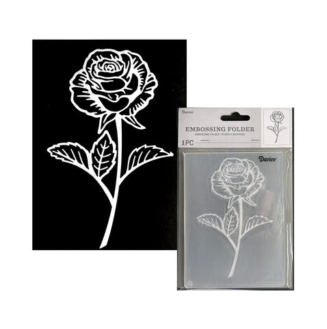 Single Rose Flower Embossing Folder By Darice Craft Folders