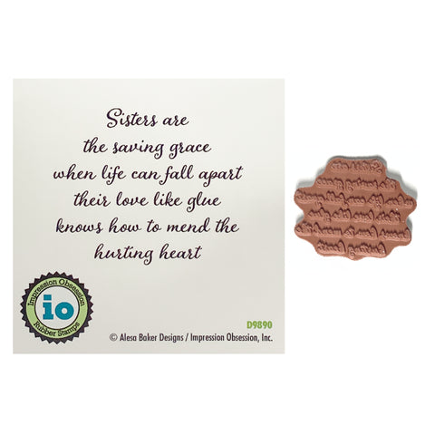 Sisters Saving Grace Rubber Stamp by Impression Obsession Cling Stamps D9890