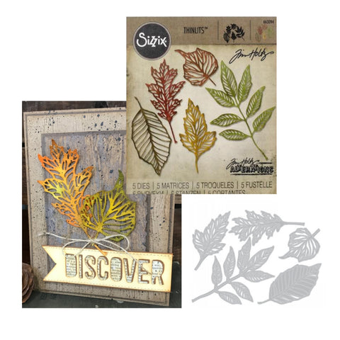 Skeleton Leaves Thinlits Metal Die Set by Sizzix 663094 - Inspiration Station Scrapbook Store & Retreat