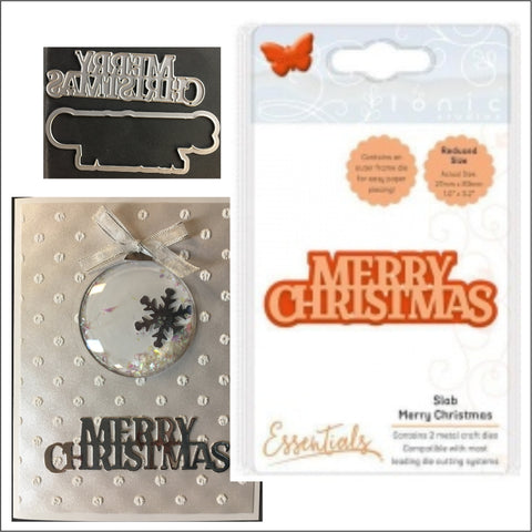 Slab Merry Christmas Die by Tonic Studios Dies 1772e - Inspiration Station Scrapbook Store & Retreat