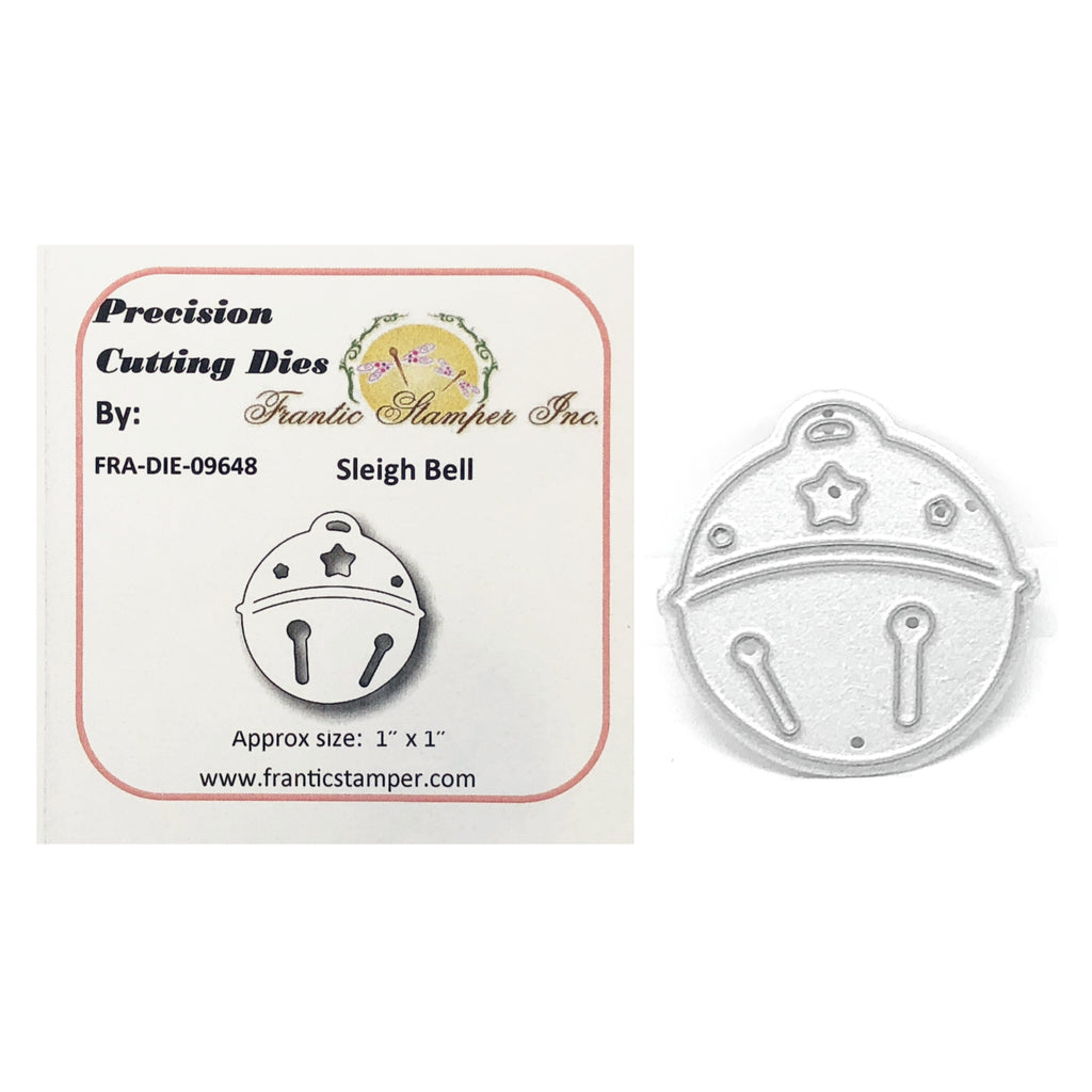 Sleigh Bell Metal Die Cut by Frantic Stamper Dies FRA-DIE-09648 - Inspiration Station Scrapbook Store & Retreat