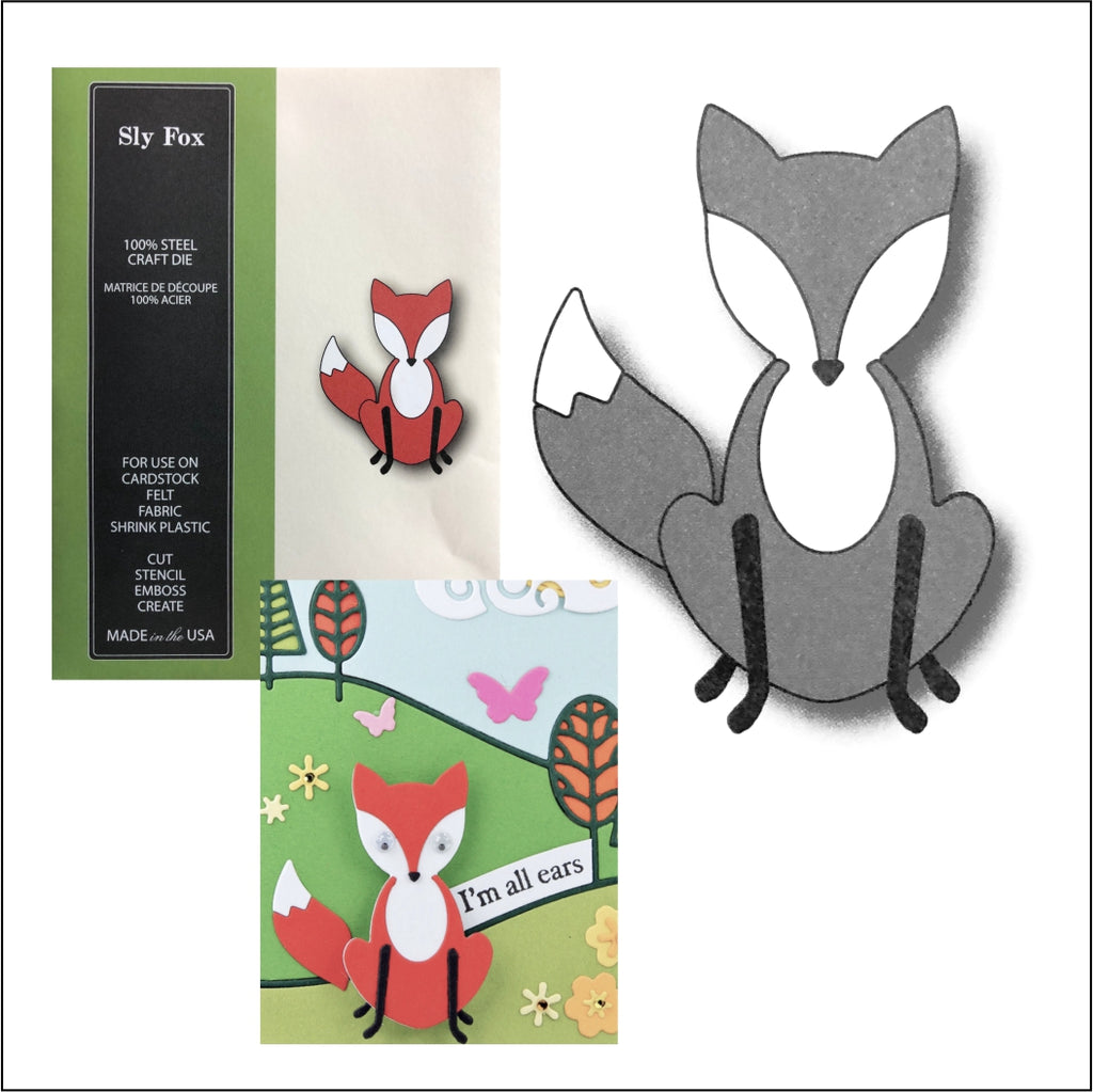 Sly Fox Metal Die Cut Set by Poppystamps Dies 1513 - Inspiration Station Scrapbook Store & Retreat