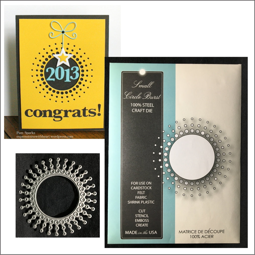 Small Circle Burst Metal Die Cut by Memory Box 98480 - Inspiration Station Scrapbook Store & Retreat