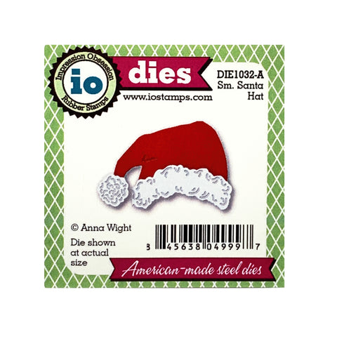 Small Santa Hat metal die cut by Impression Obsession craft dies DIE01032-A