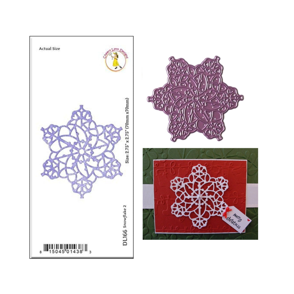SnowFlake 2 Metal Die Cut by Cheery Lynn Designs DL166