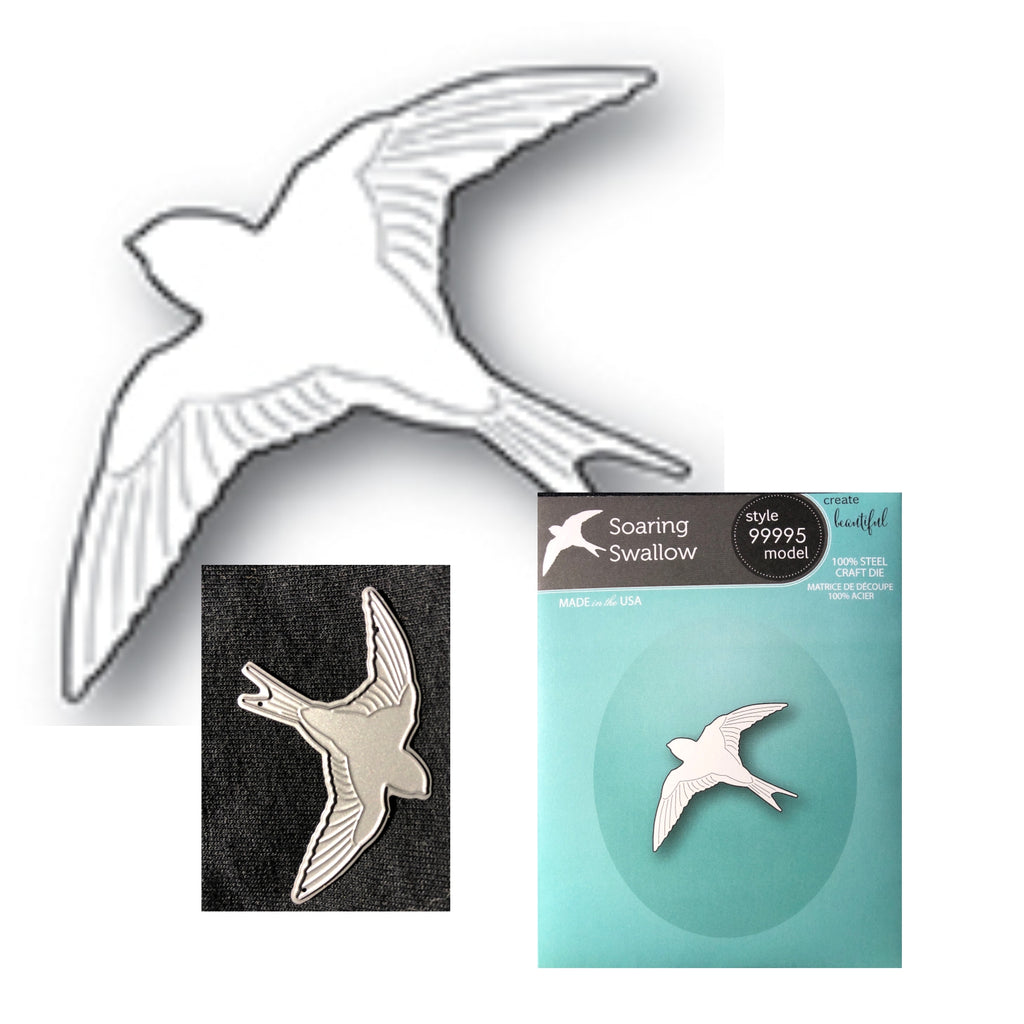 Soaring Swallow Craft Die by Memory Box Dies 99995 - Inspiration Station Scrapbook Store & Retreat