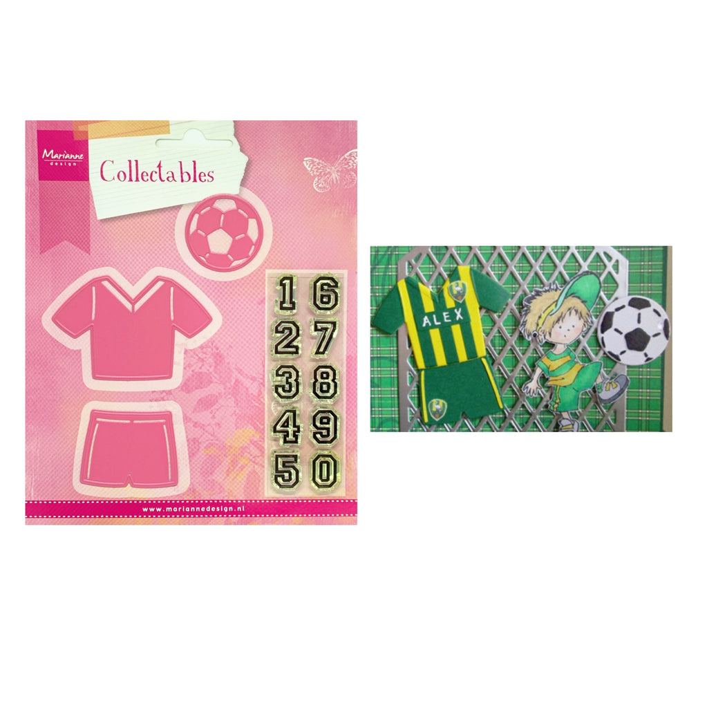 Eline's Soccer Metal Die Cut Set by Marianne Design Dies COL1335 - Inspiration Station Scrapbook Store & Retreat