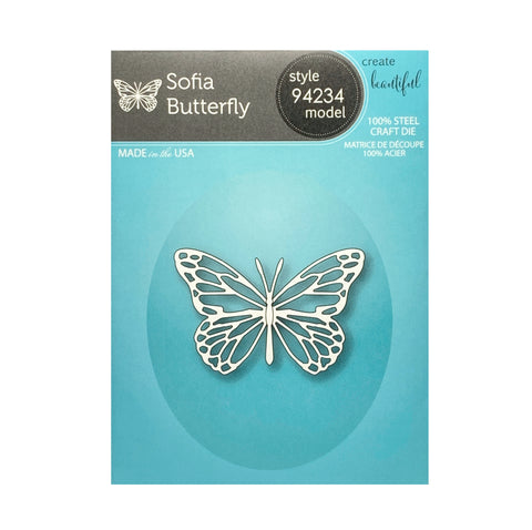 Sofia Butterfly metal die cut by Memory Box cutting dies 94234
