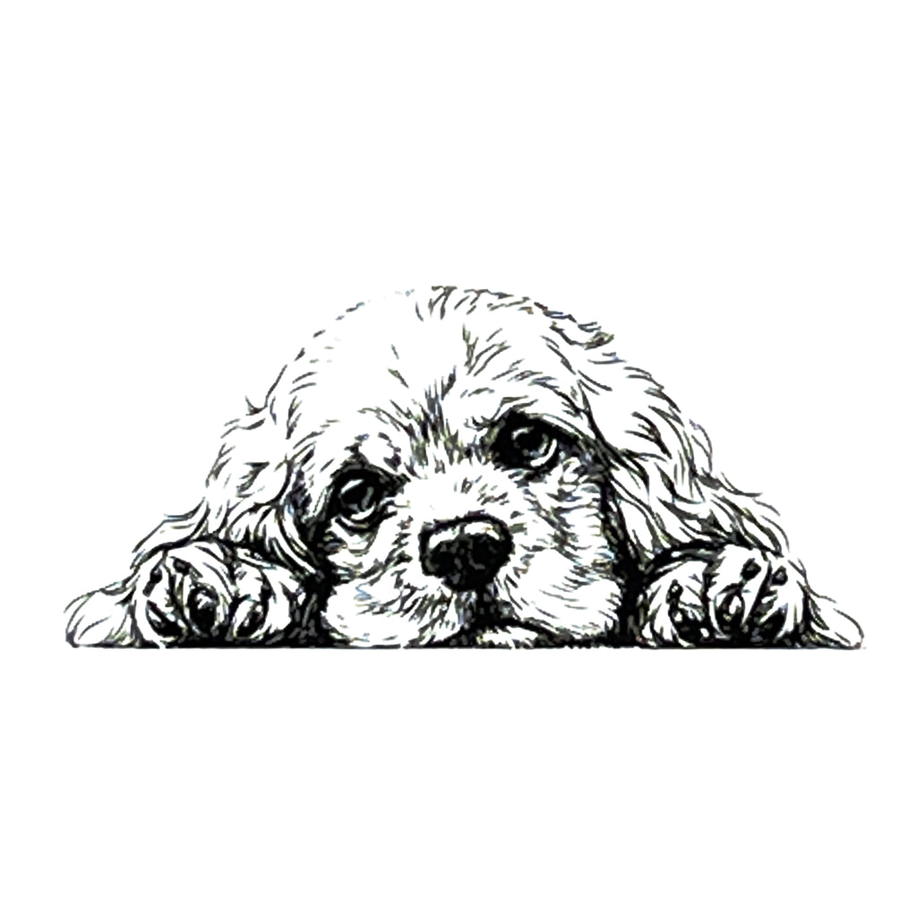 Dog Clear Stamp Cocker Spaniel by Nellie Snellen Cling Craft Stamps