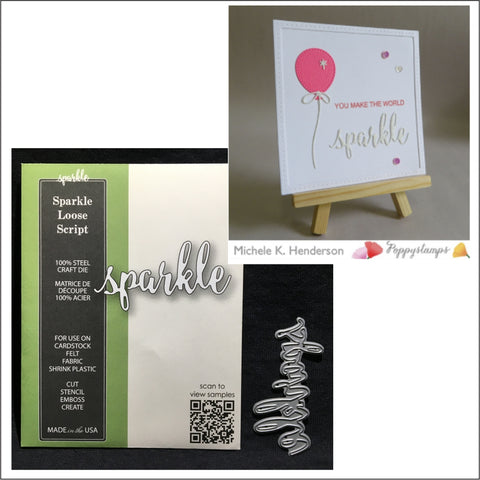 Sparkle Loose Script Word Die by Poppystamps Dies 1914 - Inspiration Station Scrapbook Store & Retreat