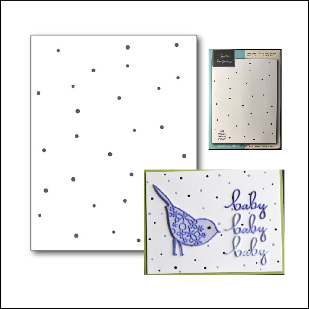 Speckled Background Metal Die by Memory Box Dies 99473 - Inspiration Station Scrapbook Store & Retreat