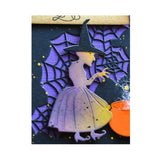 Spellcaster Witch Metal Die Cut by Poppy Stamps Cutting Dies 2250 - Inspiration Station Scrapbook Store & Retreat