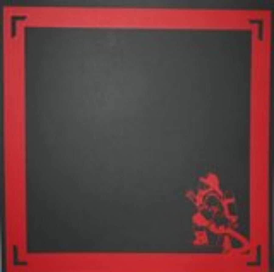 Fireman in Gear 12x12 scrapbook page laser die cut - Inspiration Station Scrapbook Store & Retreat