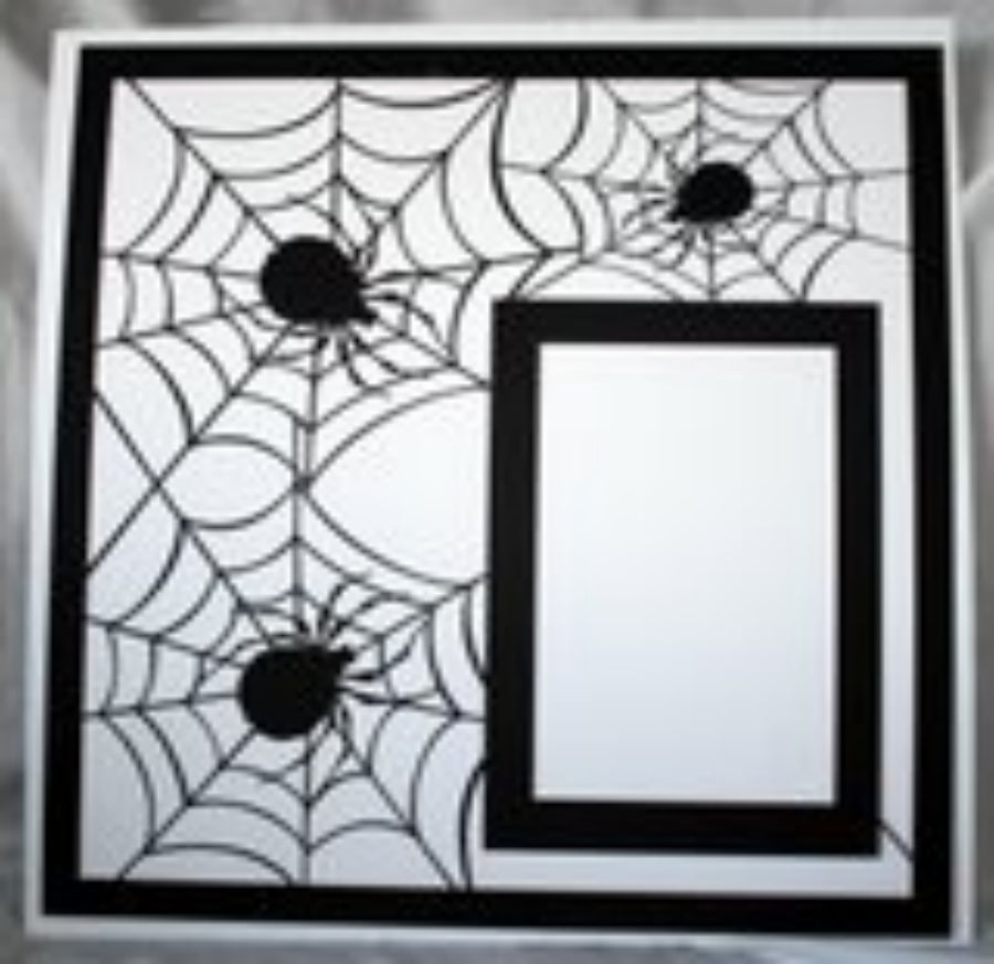 Spider Multiple Halloween or Superhero  - 12x12 Laser Die Cut Scrapbook Page - Inspiration Station Scrapbook Store & Retreat