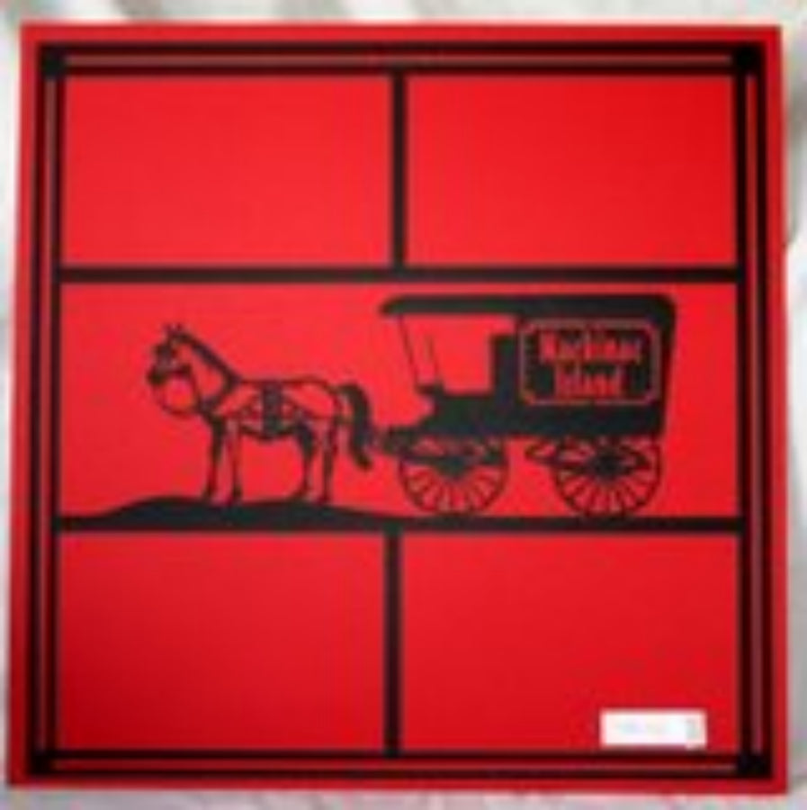Mackinac Island Carriage Center (4 square) Laser Die Cut 12x12 Scrapbook Page - Inspiration Station Scrapbook Store & Retreat