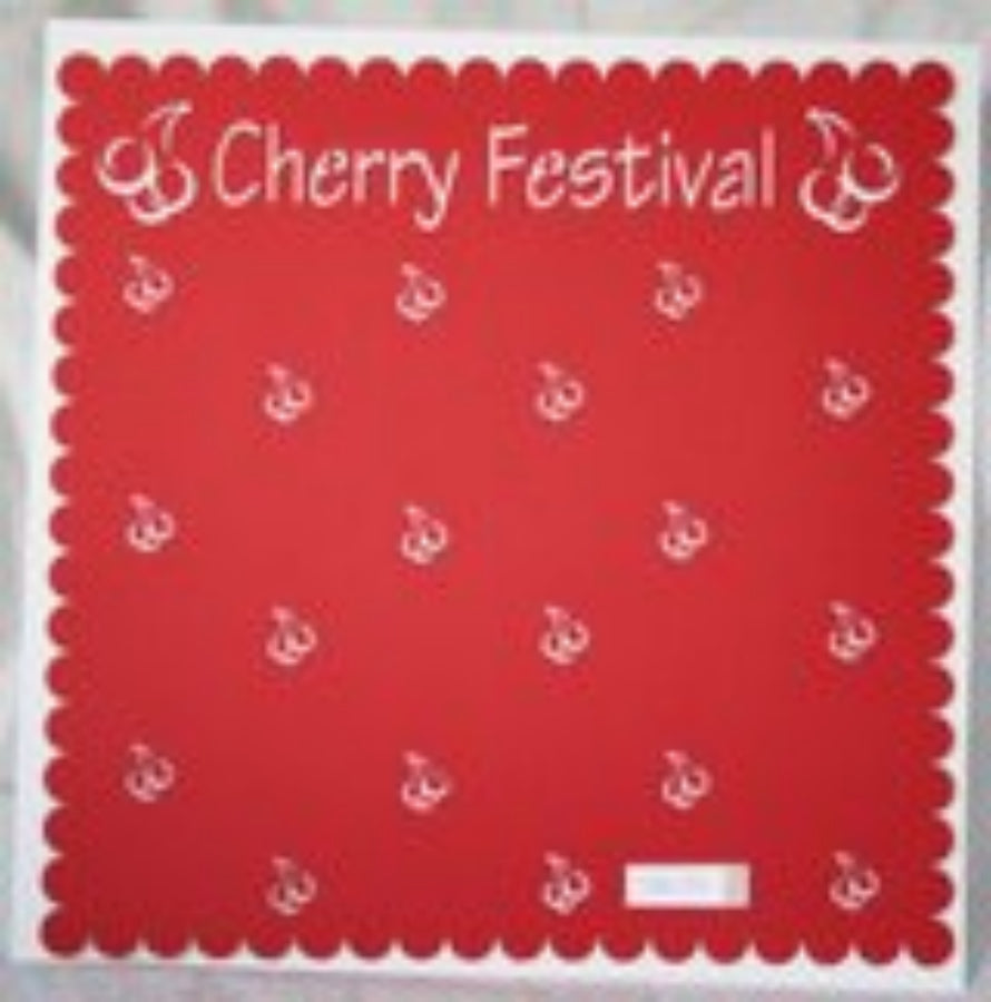 Traverse City Cherry Festival Scallop  - 12x12 Laser Die Cut Scrapbook Page - Inspiration Station Scrapbook Store & Retreat