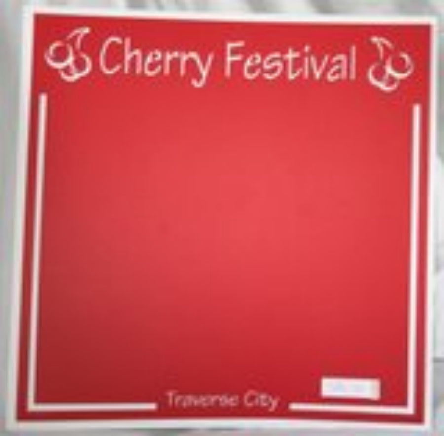 Traverse City Cherry Festival  - 12x12 Laser Die Cut Scrapbook Page - Inspiration Station Scrapbook Store & Retreat