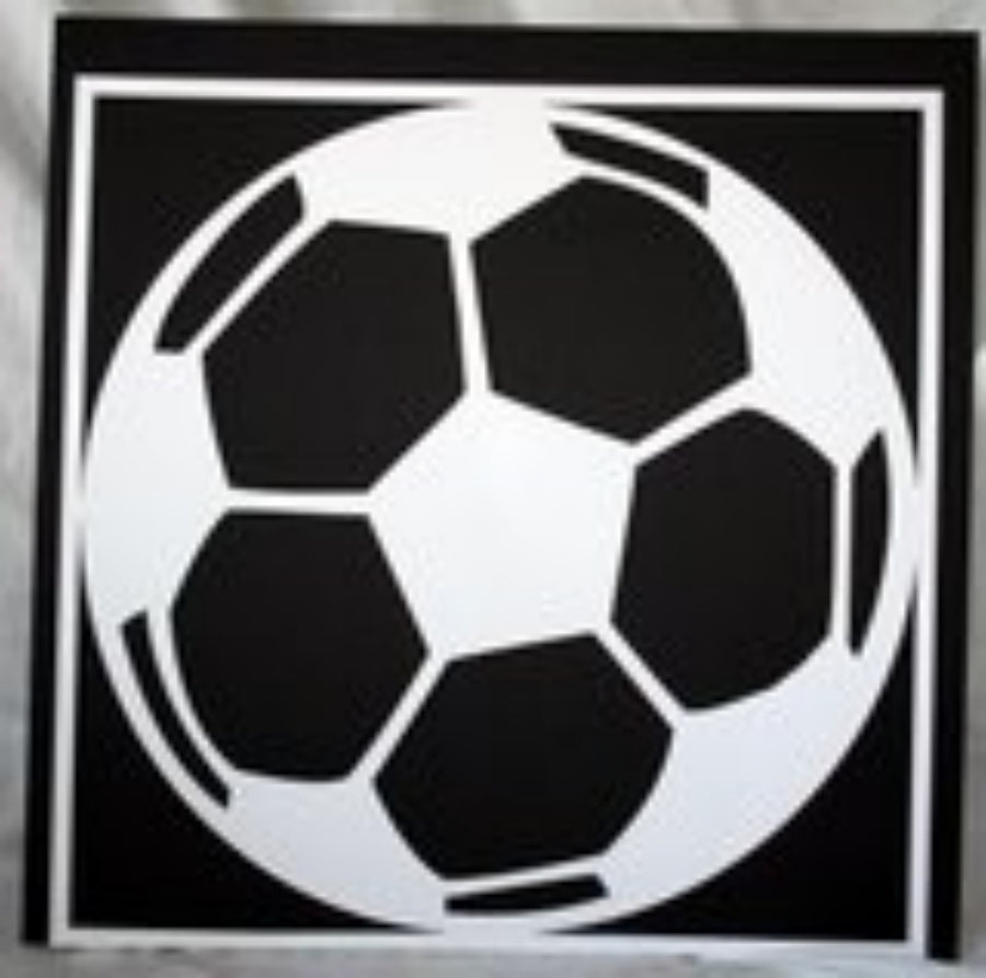 Soccer Ball with Photo Holes - 12x12 Laser Die Cut Scrapbook Page - Inspiration Station Scrapbook Store & Retreat
