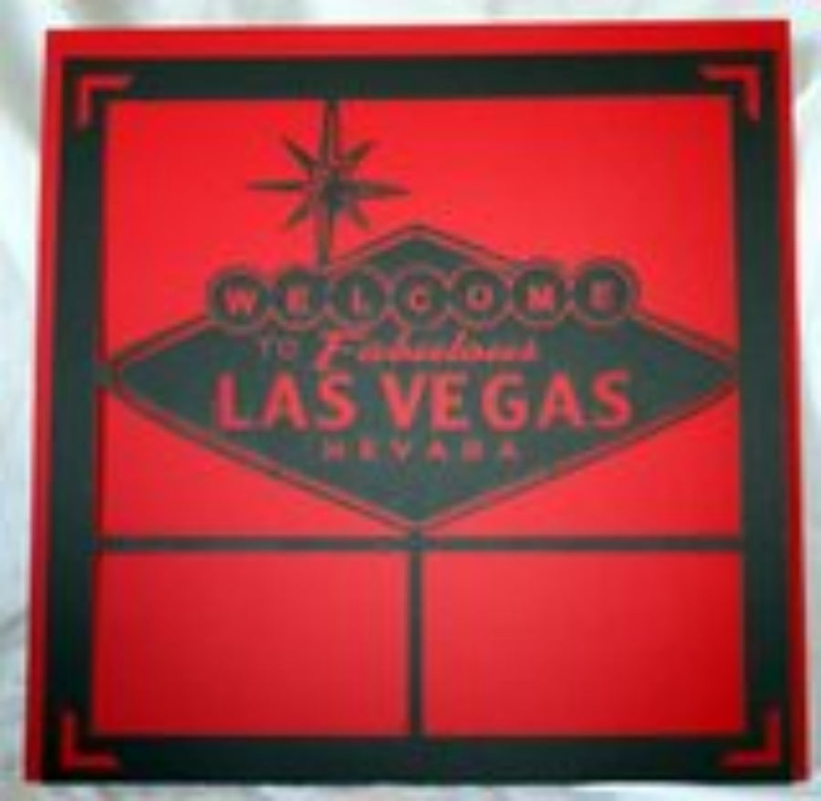 Las Vegas Large Logo - 12x12 Laser Die Cut Scrapbook Page - Inspiration Station Scrapbook Store & Retreat