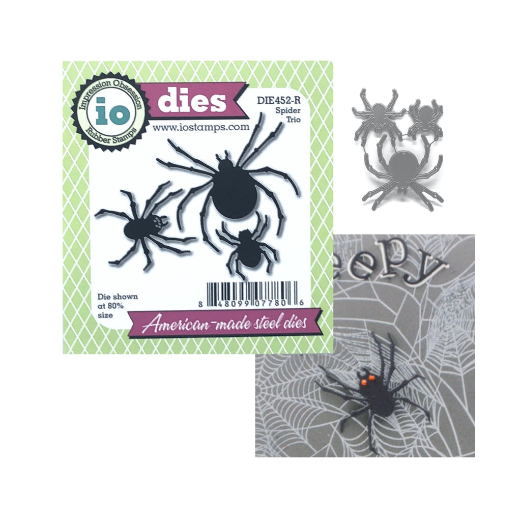 Spider Trio Die Cut Set by Impression Obsession Dies DIE452-R - Inspiration Station Scrapbook Store & Retreat