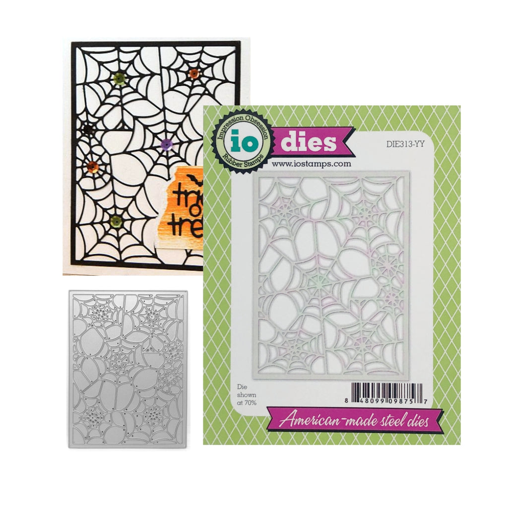 Spider Web Background Die Cut by Impression Obsession Cutting Dies DIE313-YY - Inspiration Station Scrapbook Store & Retreat