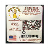 Spider Web Mesh metal die Halloween Border by Cheery Lynn Designs B322