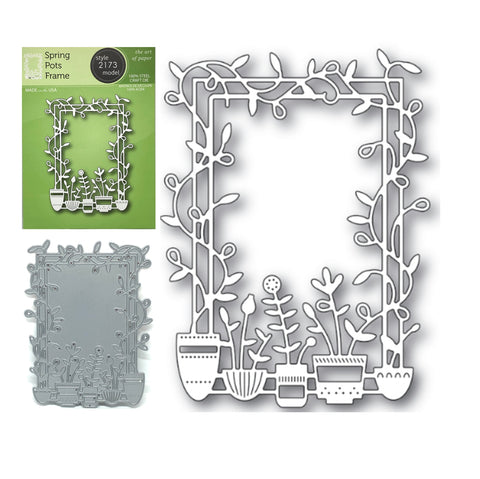 Spring Pots Frame Metal Die Cut by Poppystamps Dies 2173 - Inspiration Station Scrapbook Store & Retreat