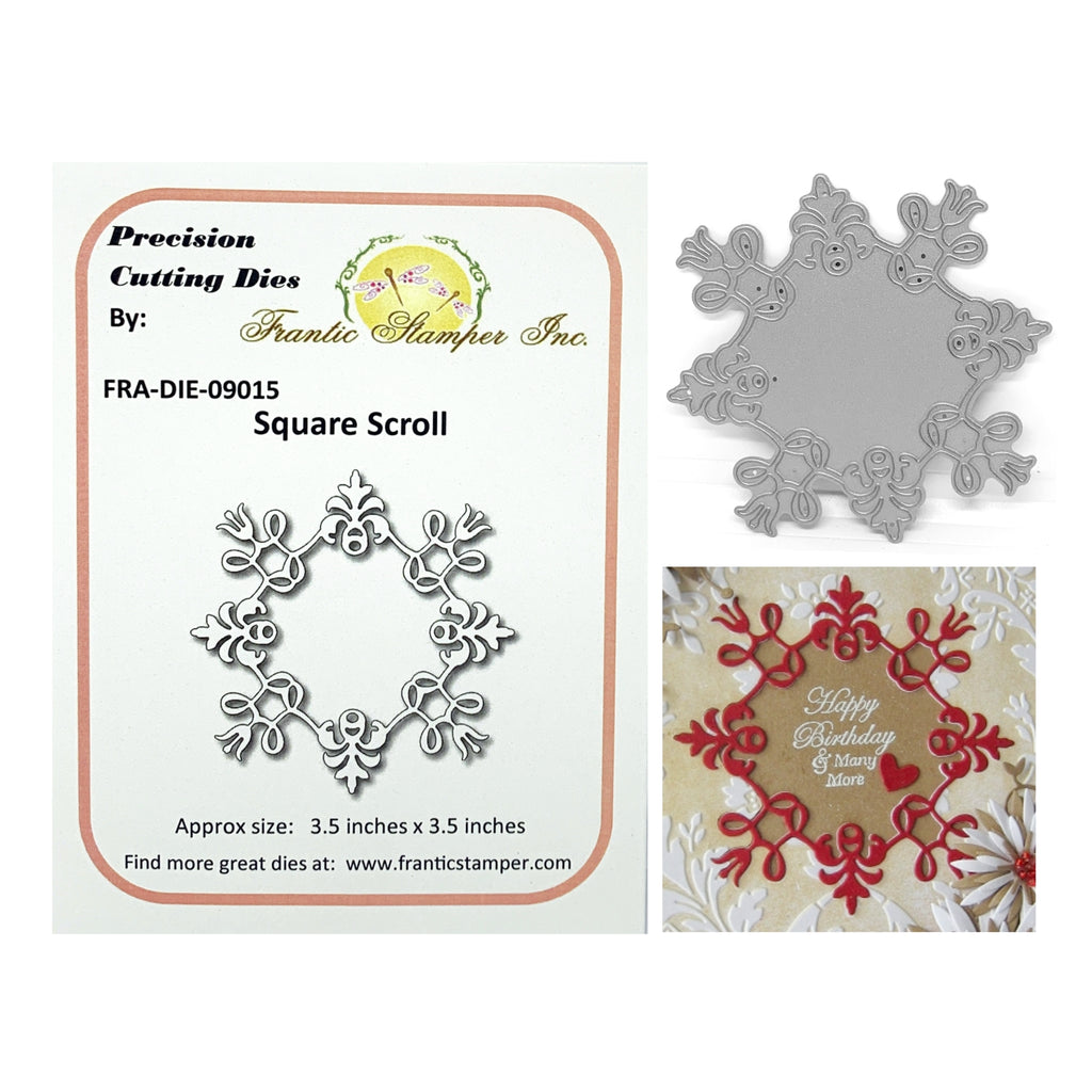 Square Scroll Metal Die Cut by Frantic Stamper FRA-DIE-09015 - Inspiration Station Scrapbook Store & Retreat