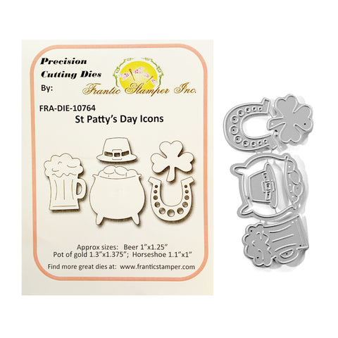 St. Patty's Day Icons Metal Die Cut Set by Frantic Stampers Dies FRA-DIE-10764 - Inspiration Station Scrapbook Store & Retreat