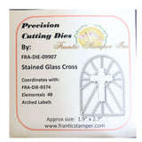 Stained Glass Cross Metal Die Cut by Frantic Stamper FRA-DIE-09907 - Inspiration Station Scrapbook Store & Retreat