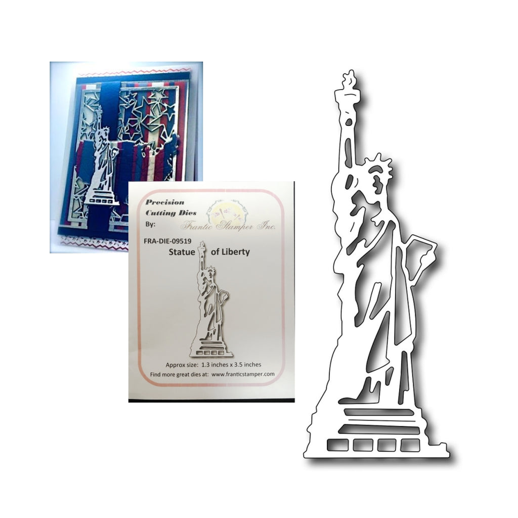 Statue of Liberty Metal Die by Frantic Stamper Dies FRA-DIE-09519 - Inspiration Station Scrapbook Store & Retreat