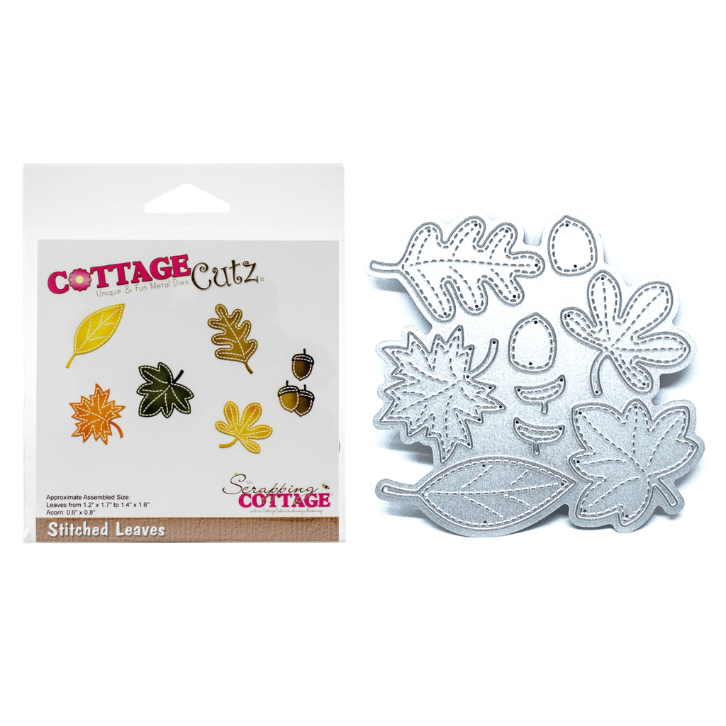 Stitched Leaves Die Cut Set by Cottage Cutz Dies CC-404 - Inspiration Station Scrapbook Store & Retreat