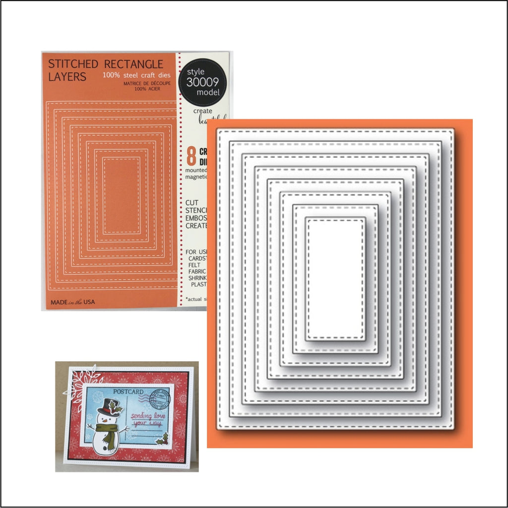 Stitched Rectangle Layers Die Cut Set by Memory Box Dies 30009 - Inspiration Station Scrapbook Store & Retreat