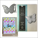 Stitched Vivienne Butterfly Die Cut by Memory Box Dies 99271 - Inspiration Station Scrapbook Store & Retreat