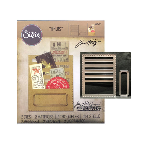 Stitched Slots Thinlits Metal Die Set by Tim Holtz for Sizzix 662697 - Inspiration Station Scrapbook Store & Retreat