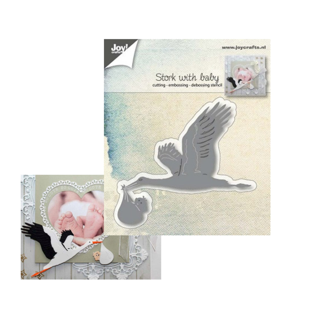 Stork With Baby Metal Die Cut by Joy Crafts Dies 6002/1015 - Inspiration Station Scrapbook Store & Retreat