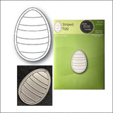 Striped Egg Die Cut by Poppystamps Dies 2030 - Inspiration Station Scrapbook Store & Retreat