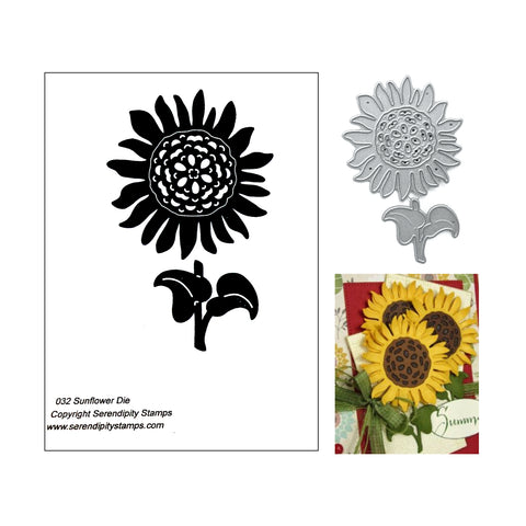 Sunflower Metal Die Set by Serendipity Dies 032 - Inspiration Station Scrapbook Store & Retreat